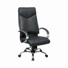 Office Star ProLine II Black Leather High Back Executive Office Chair   8200