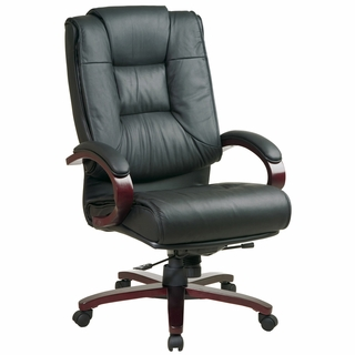 Office Star ProLine II High Back Executive Leather Office Chair - 8500 - Click to enlarge