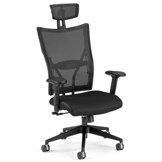 OFM Ultimate Leather Mesh Executive Chair Hi-Back - 590-L - Click to enlarge