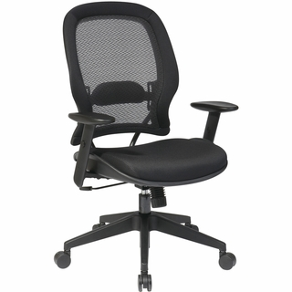 Office Star Space AirGrid Managers Chair (Adjustable Angled Arms) - 5540 - Click to enlarge