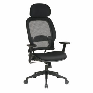 Office Star Space Managers Chair with Adjustable Headrest - 55403 - Click to enlarge