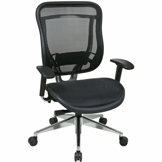 Office Star Space Mesh Seat & Back Office Chair (Adjustable Arms) - 818A-11P9C1A8 - Click to enlarge