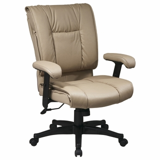 Office Star Work Smart Deluxe Leather Executive Chair w/ Pillow Top - EX9381 - Click to enlarge