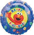 Balloons Elmo Birthday Balloon Swirls and Stars