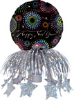 Dazzling New Year Bottle Topper Balloons Set of 3
