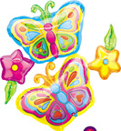 Balloons Butterfly Cluster Balloon