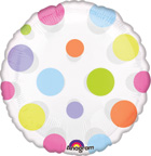 Balloons Bright Polka Dot Balloon