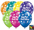 Happy Birthday Polka Dots and Circles Latex Balloons