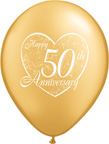 Balloons 50th Anniversary Latex Balloons