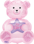 Baby Shower Balloons It's a Girl Balloons Bear