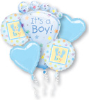 Balloon Bouquets Its a Boy Balloon Bouquet