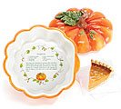 Ceramic Pumpkin Pie Recipe Plate
