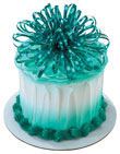 Bulk Cake Toppers Teal Bow Mylar