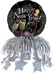 Champagne New Year Bottle Topper Balloons Set of 3