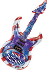 Balloons Patriotic USA Rocks Guitar Balloon