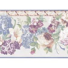 Satin Floral Wallpaper Border 51306140 <br> CLEARANCE!! QUANTITIES LIMITED!!