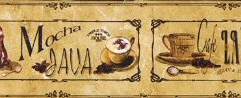 877563 Mocha Java, Cafe Latte, Vanilla Nut Classico Coffee Wallpaper Border AW77376 <br> CLEARANCE!! QUANTITIES LIMITED!!