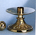 High polish candlestick