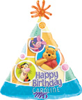 Pooh Balloons Pooh Birthday Hat Balloon Personalized