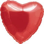 Heart Balloons Ruby Red Heart Balloon Transparent