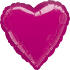 Heart Balloons Fuchsia Heart Balloon