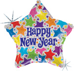 New Years Balloons Holographic Star New Years Balloon