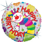 Balloons Circus Clown Birthday Balloon
