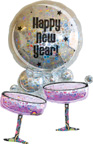 Balloons New Years Champagne Bubbles Balloon Holographic