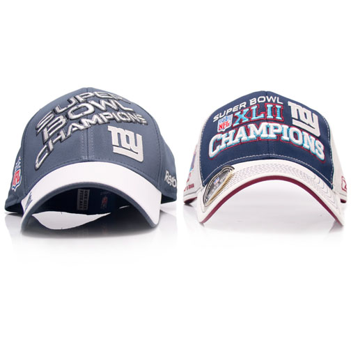 Super Bowl XLII and XLVI Champions Reebok New York Giants Football Two Hats c13b7395175
