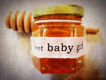 Sweet Baby Girl Mini Honey Favor