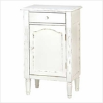 Antiqued White Wood Cabinet