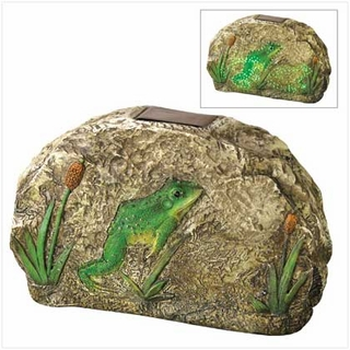 Magical Motion Frog Garden Stone