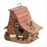 Wooden Love Shack Bird House