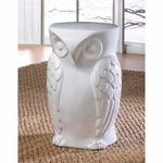 Wise Owl Ceramic Decorative Stool