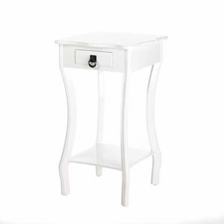 White Glossy Accent Table