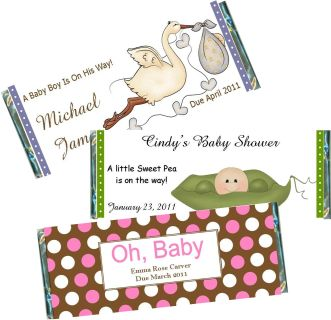 12 Giraffe Baby Shower Candy Bar Wrappers Pink Blue Neutral colors available Personalized Custom Sweet Treat New Baby Party Favors