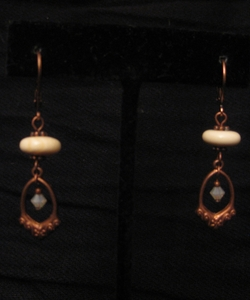 Antique Copper with Clouded Swarovski