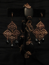 Antique Copper with Black Charm Set