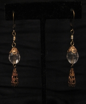 Antique Gold Clear Swarovski