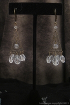 Antique Gold Chandelier-clear swarovski crystal