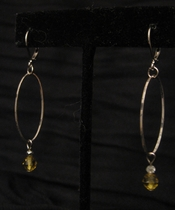 Silver Loop with Canary Swarovski
