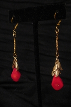 Gold Leaf with Red Coral