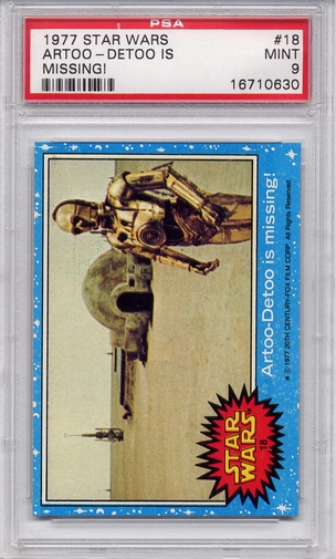 1977 Star Wars - Artoo-Detoo Is Missing! #18 PSA 9