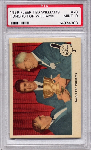 1959 Fleer Ted Williams - Honors For Williams #78 PSA 9