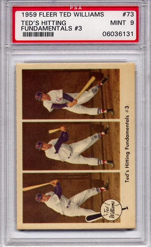 1959 Fleer Ted Williams - Ted's Hitting Fundamentals (3) #73 PSA 9
