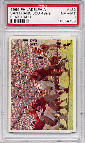1966 Philadelphia - 49ers Play Card #182 PSA 8
