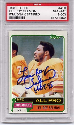 Lee Roy Selmon PSA/DNA Certified Authentic Autograph - 1981 Topps