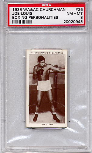 1938 Churchman Boxing Personalities Joe Louis #26 PSA 8