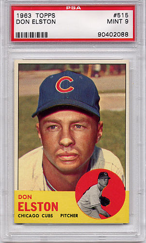1963 Topps Don Elston #515 PSA 9