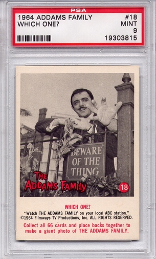 1964 Addams Family - Which One? #18 PSA 9